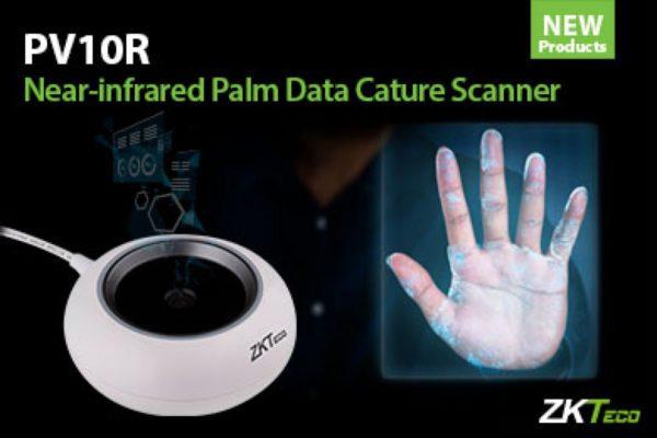 Le nouveau scanner biométrique à infrarouge proche PV10R de ZKTeco pour la lecture des mains